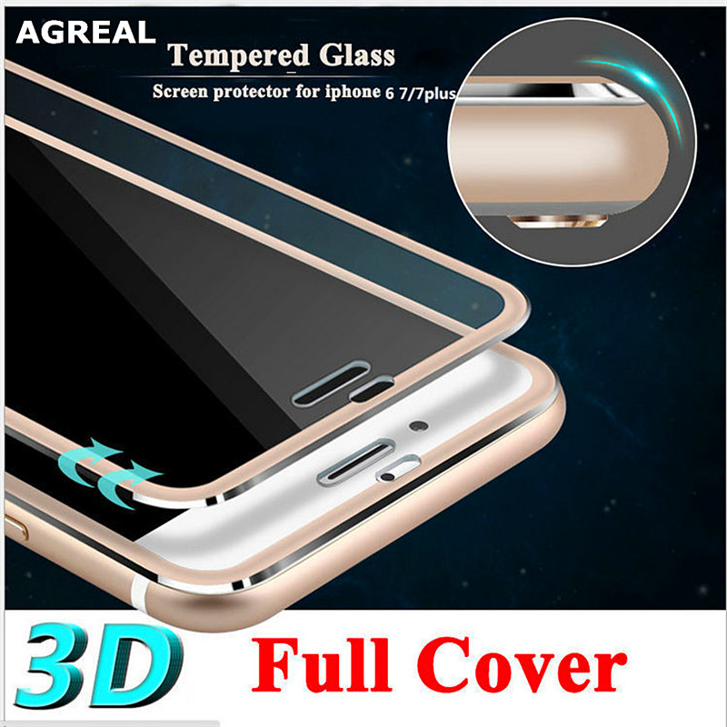 3D Curved Edge Clear Tempered Glass Full Coverage For iPhone 7 Plus 7 Titan..
