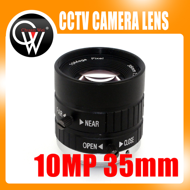 10MP 35mm 1:1. 8 HD Câmera Industrial Fixo IRIS Manual Focus Lente Zoom C Montar CCTV Lente para Câmera de CCTV Industrial microscópio