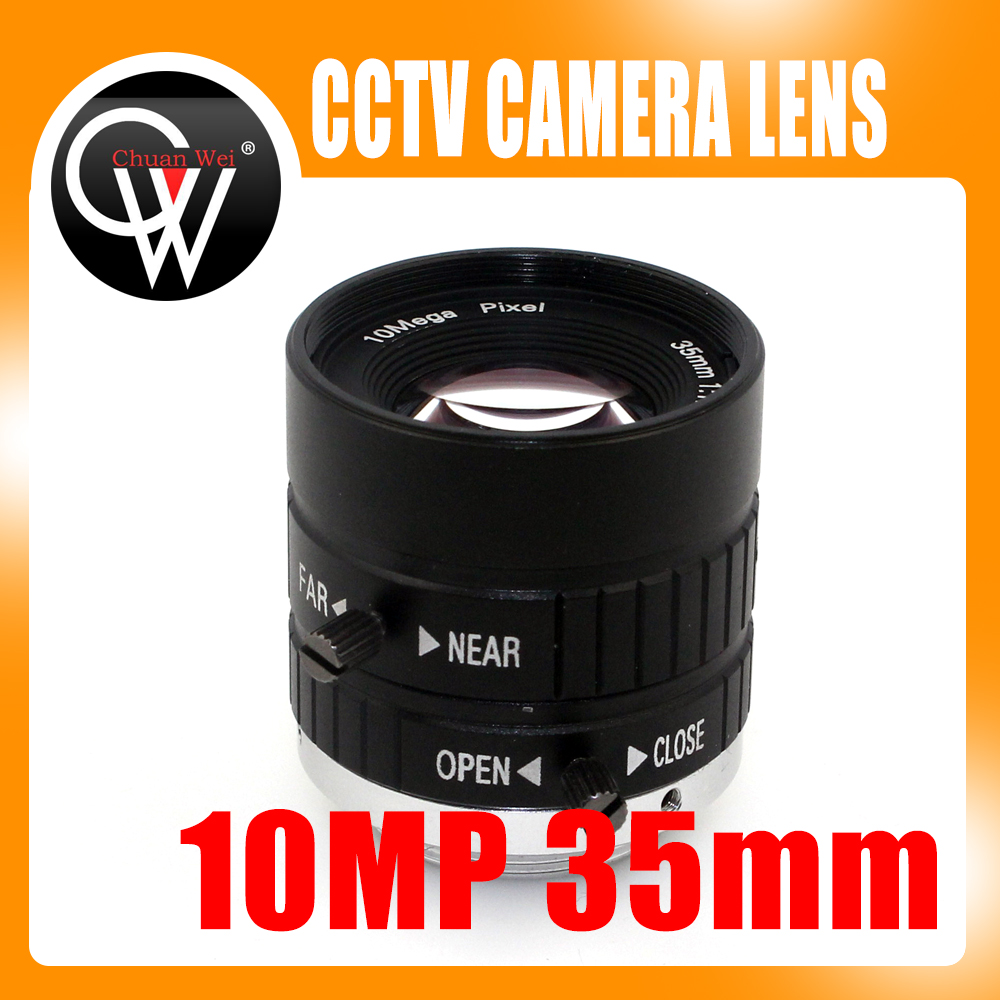 10MP 35mm 1: 1.8 HD Cámara industrial Manual fijo IRIS Focus Zoom Lens C Mount CCTV Lens para cámara CCTV Microscopio industrial