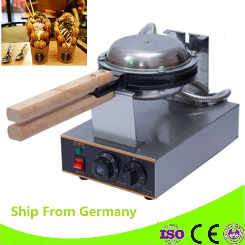 Германия складе 110 В/220 В Электрический антипригарным пузырь вафельница яйцо пончик вафельные машины с таймером и Контроль температуры ...