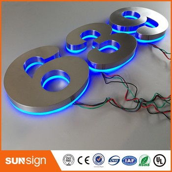 Beautiful Entrance Gate Accessories LED House Numbers and letters & Apartment LED Numbers and letters