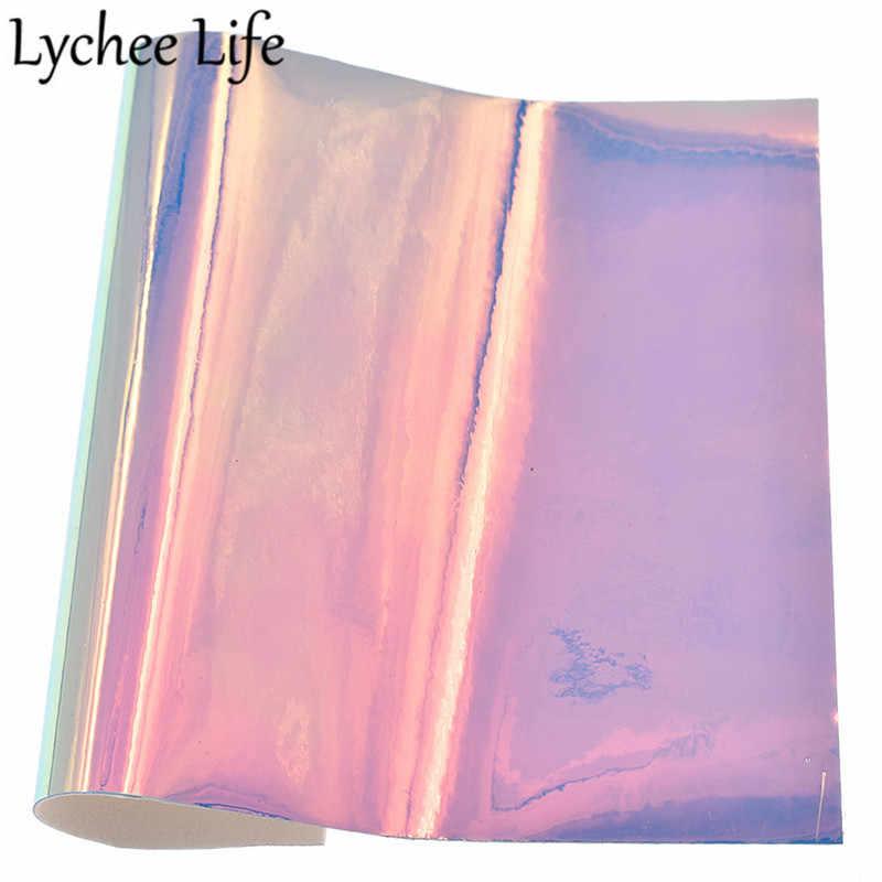 ลิ้นจี่ Life A5 Faux หนังผ้า PU โปร่งใสผ้า DIY Modern Home เสื้อผ้าสิ่งทอเย็บผ้าอุปกรณ์เสริม