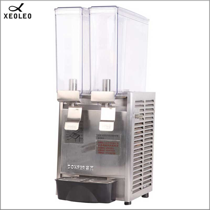 XEOLEO Double Tank Cold&hot Drink Dispenser Spraying Juice Dispenser Commercial Automatic Cold Drink Machine Double-temperature