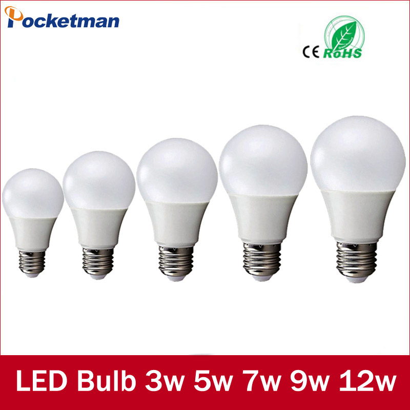 Led Bulbs 220v E27 LED Lamp E27 3W 5W 7W 9W 12W 220V Cold White/Warm White Lampada Ampoule Bombilla LED Light Bulb warranty 2 years e27 par30 30w led bulbs light no dimmable110v 220v warm cool white led spotights
