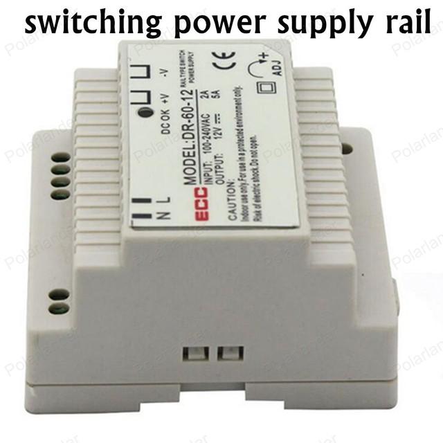 Fuente de alimentación conmutada AC/DC 12 V 5A fuente de alimentación doble salida rail tamaño mini fuente de alimentación para led luces Iluminación Transformers