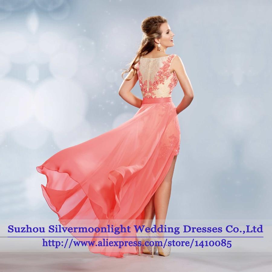 vestido de festa Cheap Sexy Aqua Chiffon Long Prom Dress 2016 ...