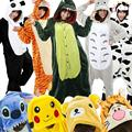 Pikachu Panda Stitch Ahri Adults Pajamas Pyjamas Anime Cosplay Costumes Adult Cartoon Animal Onesies Sleepwear Cheep One Piece
