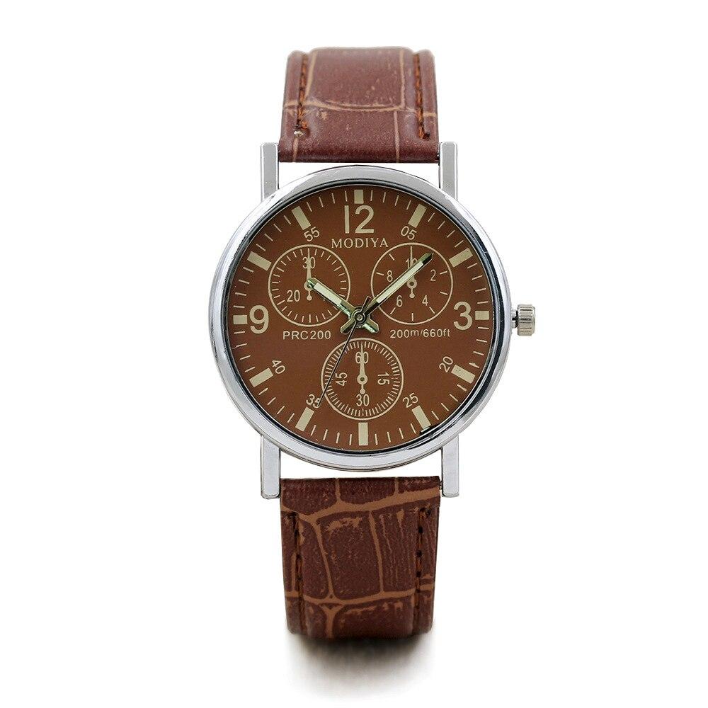 Explosions cadeau montre pour hommes mode quartz montre montre bleu verre ceinture montre pour hommes fabricants en gros 9