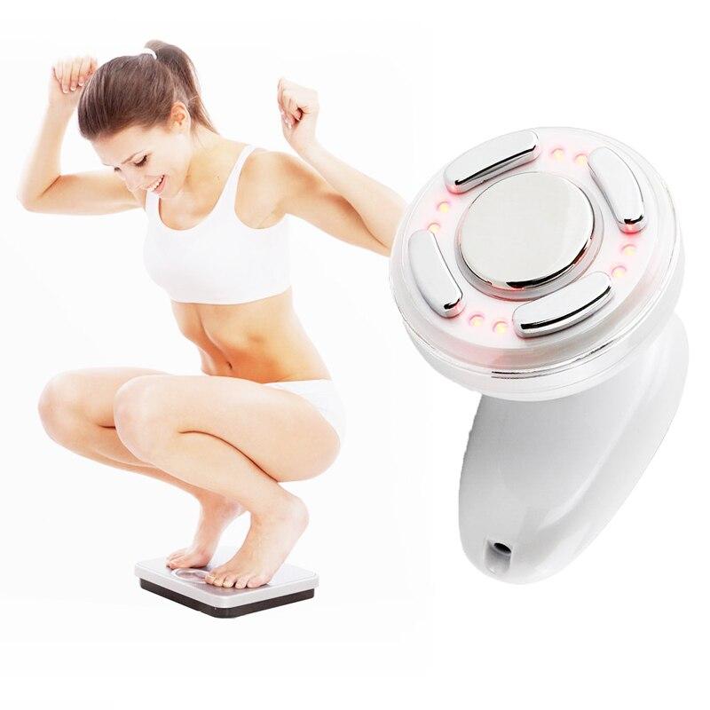 Cuerpo ultrasonido masajeador estimulador muscular ems perder peso RF Radio Frecuencia piernas cintura Abdomen adelgazar dispositivo