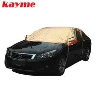 Kayme מכסה מכונית כותנה peva עמיד למים חיצוני הגנה מפני שמש גשם אבק שלג מגן כיסוי מלא hatchback סדאן suv לרכב