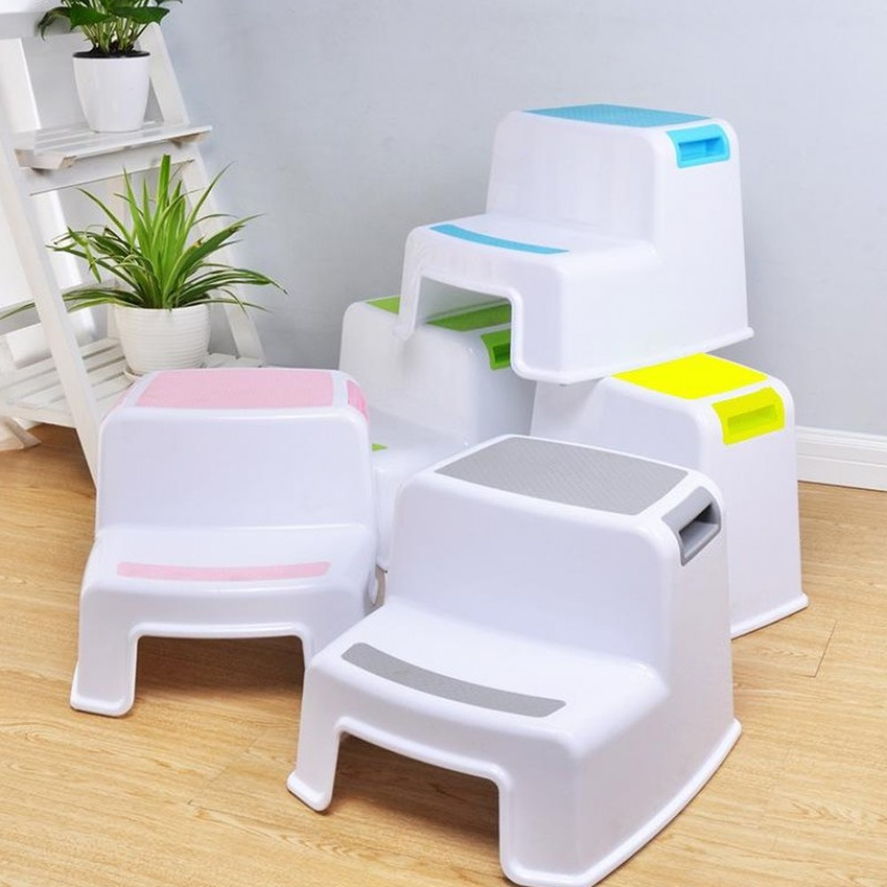 Household Thick Plastic Children's Stool Kindergarten Baby Wash Pad Footstool Non-slip Ladder Step Stool LM6041640py