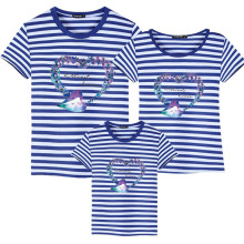 Summer Family Matching Outfits T shirt Mom Dad Son Daughter Printed T Shirts Family Mother Father Kids Clothes Matching outfits недорого