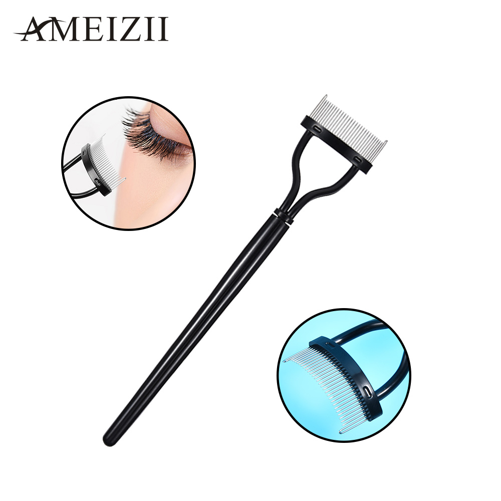 Ameizii Women 's Portable Eyelash Comb Eyebrow Brush Lash Separator Lift Curl Beauty Essential Cosmetic Tool Eye Makeup Tools