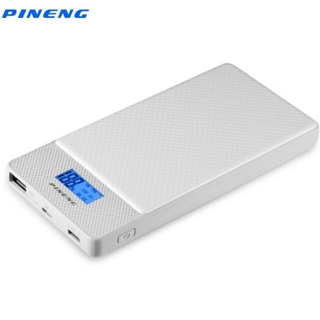 Pineng carregador rápido PN 993 10000mah, qc 3.0, micro usb externo portátil, saída dupla carregador de carregador