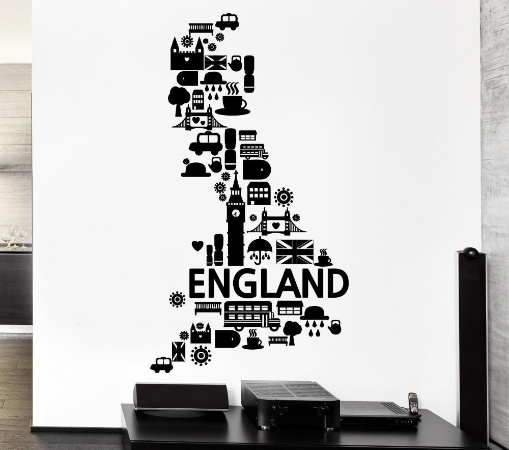Kostenloser Versand Wandaufkleber Vinyl Aufkleber Wandtattoo England ...
