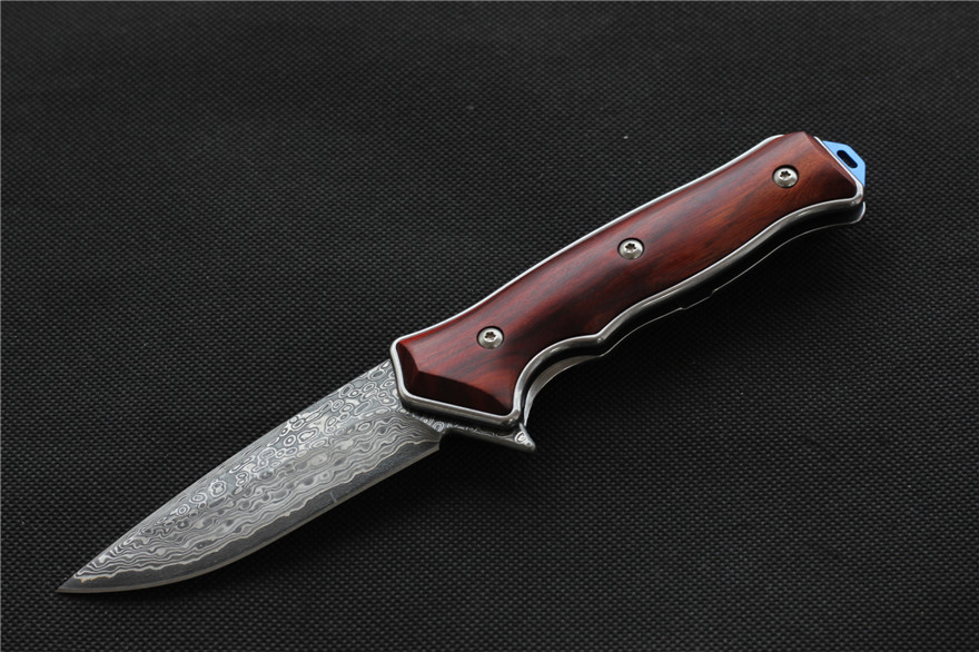 MIKER ST1502 folding knife Damascus steel blade CNC knife Outdoor Pocket Camping Tactical Survival Knives EDC tools Collection все цены