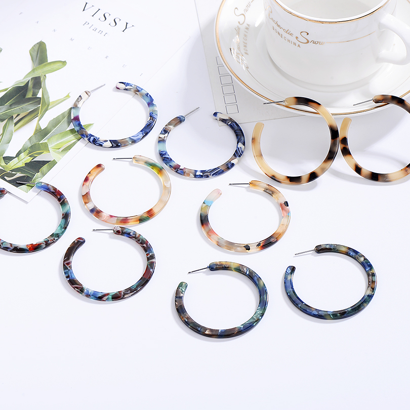 fa13b109cafc44 Pendientes ovalados de resina acrílica de joyería 2019 ZA para mujer  Geometry Big Circle Tortoiseshell Stud Earrings acetato Brincos al por  mayor ~ Free ...