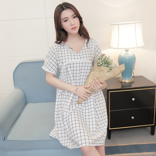 Pregnant women v neck short sleeve preppy style cotton linen dress knee length loose plaid maternity dress casual dresspink/blue-in Dresses from Mother & Kids on Aliexpress.com - Alibaba Group - 웹