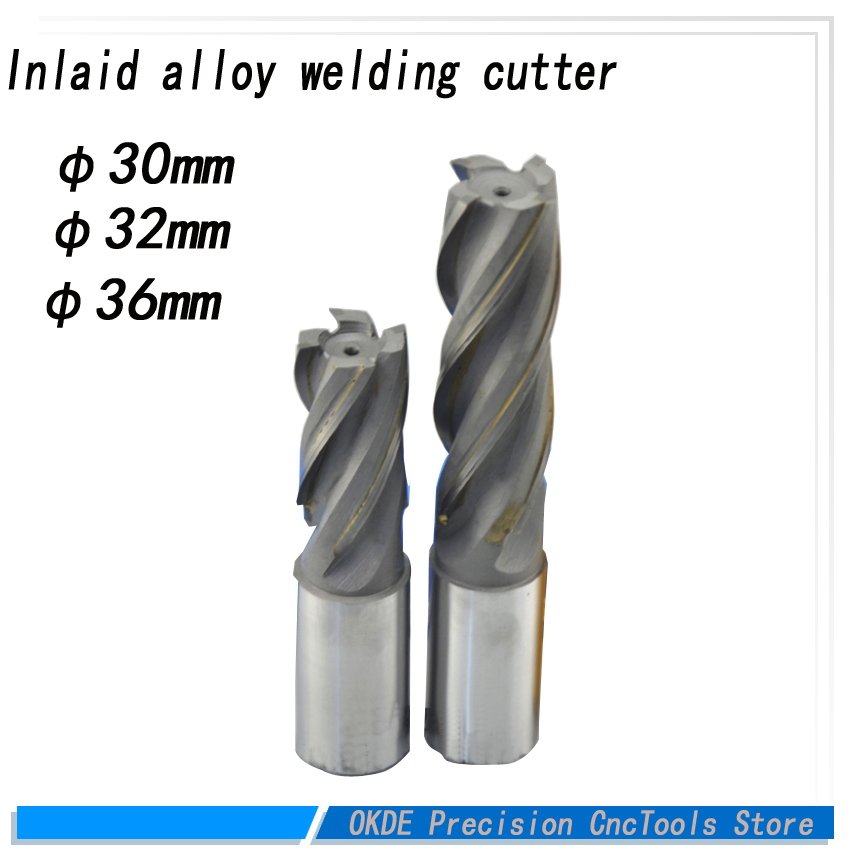 Carbide straight shank length 30mm 32mm 36mm hard Alloy Weld Spiral end Milling Cutter cemented Carbide welding milling bit 100mm x 14mm x 32mm 12 teeth hard alloy ripping sawblade milling slotting cutter