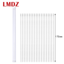 LMDZ 20Pcs 175mm Big Size Large Long Steel Needle Big Holes Sewing Needle Home Hand Sewing Tools With Needle Bottle