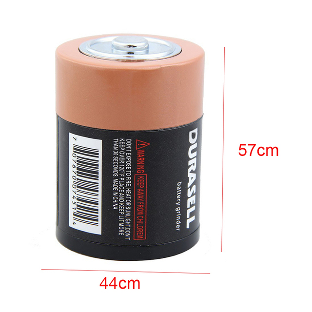 Creative Battery Shaped Metal Zinc Alloy Herb Weed Tobacco Grinder 5