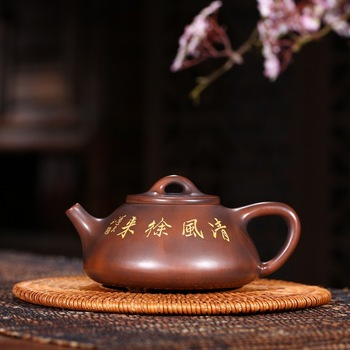 Yixing manufacturers selling hot style tea custom recommended nixing pottery stone gourd ladle pot pot shop agent