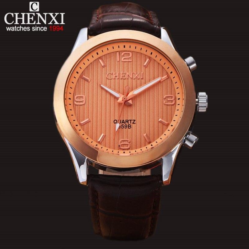 NATATE Men CHENXI Quartz Business Watches Luxury Brand Male Clock Watch Casual Sports Waterproof Leather Strap