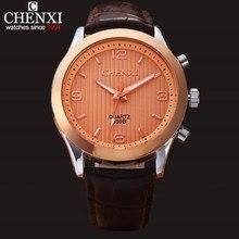 NATATE Hommes CHENXI Quartz D'affaires Montres De Luxe Marque Mâle Horloge Montre Casual Sport Étanche Bracelet En Cuir montre-bracelet 1140