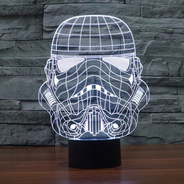 Магические Оптические Иллюзии 3D Украшения Атмосфера Лампа Micro USB Стол Свет Светящийся Новинка