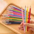 12 pçs/lote Gel Caneta com Diamante Bonito Dos Desenhos Animados Kawaii Zakka Cor Pen For Kids School Student Suprimentos Atacado 04051