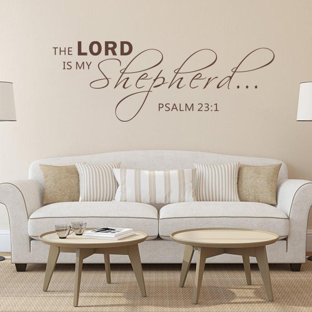 THE LORD IS MY SHEPHERDPSALM Scripture Wall Sticker Vinyl - Vinyl wall decals bible verses