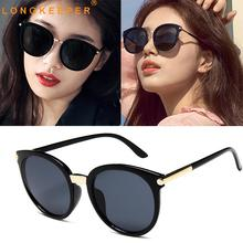 цена на Brand Designer Cat Eye Sunglasses Women Luxury Coating Mirror Lens Sun Glasses Retro Classic Eyewear UV400 Gafas