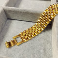 "Charms Jewelry Watch link 24k Yellow Gold Gf Men's Bracelet GF 9""chain 16MM"