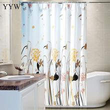 Nordic Style Bathroom Bath Shower Curtains Peva Screens Moldproof Waterproof Products Curtain Home Decor