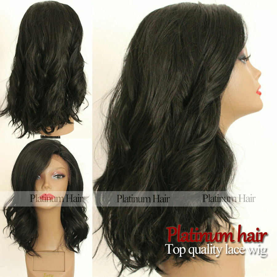 Synthetic Lace Wig For Black Women Wavy Short Bob Hair Wig ...