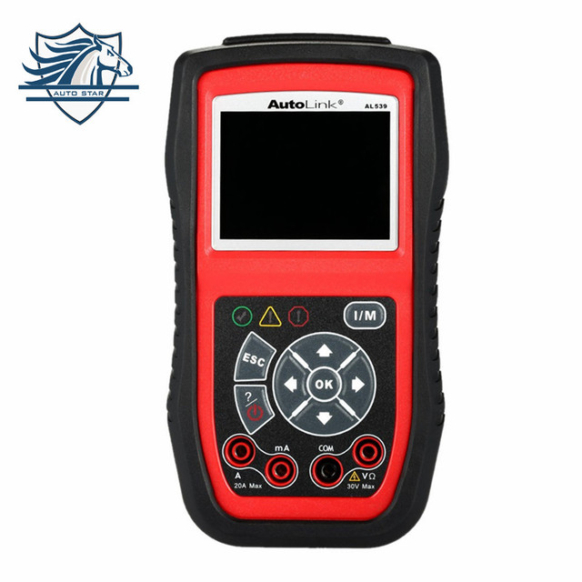 Top Venda Original Autel AutoLink AL539 OBD2/CAN Scan ferramenta Ferramentas de Diagnóstico de Carro OBD 2 Scanner Internet Update Multilingual Menu