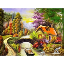 Rural,Scenery,Full,5D,DIY,Diamond Painting,Needlework,Diamond Embroidery,Cross Stitch,Round Rhinestone,Home Decoration,Art