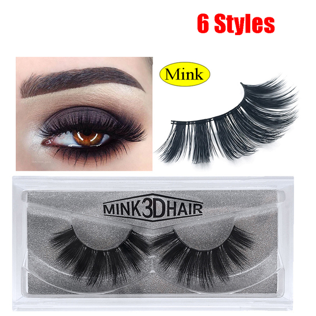 1 Pair 3D Mink Lashes Luxury Hand Made Mink Eyelashes Thcik Crisscross Eyelash Cruelty Free Mink False Eyelashes Upper Lashes False Eyelashes