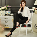 Original New 2016 Brand Rompers Black and White Ladies Plus Size Casual Elegant Autumn Jumpsuits Women Wholesale