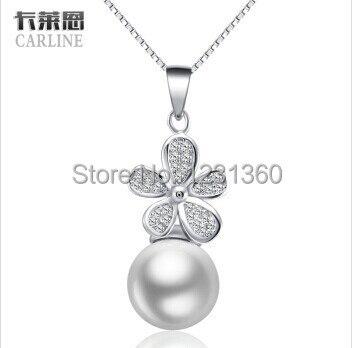 Nový módní přírodní Fleshwater Pearl přívěsek a náhrdelník pro ženy, 100% 925 mincový stříbrný náhrdelník jemné šperky k narozeninám dárek
