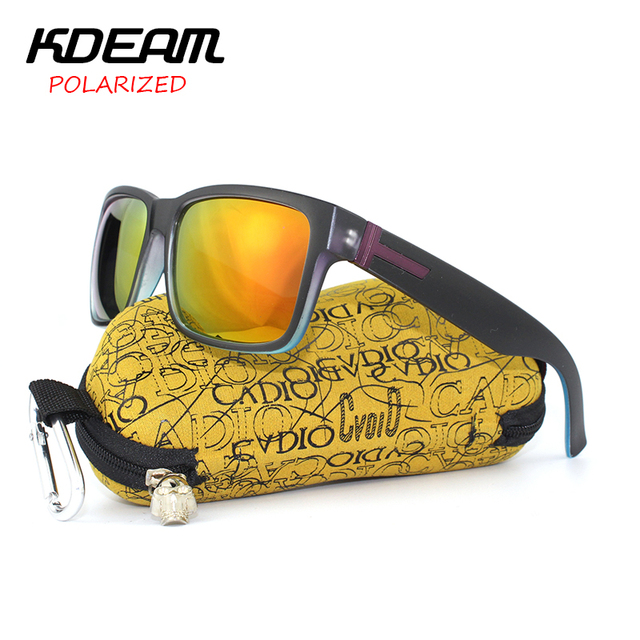 KDEAM Newest 2017 Polarized Sunglasses Men Sports Goggles Women Polaroid Sun Glasses HD lens With Box lentes de sol 5 colors