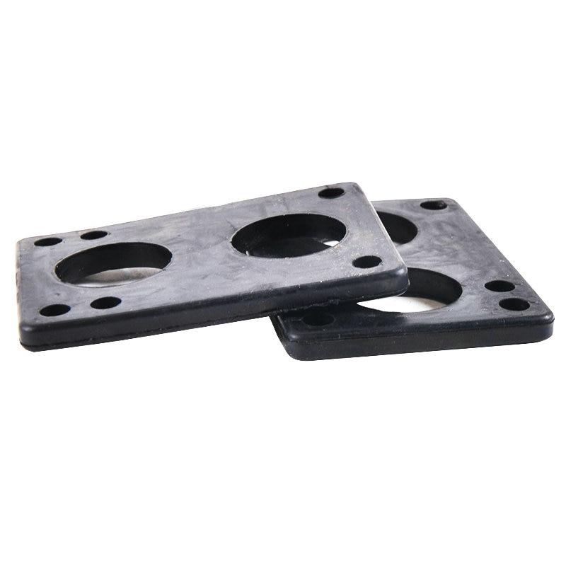 Free Shipping 2pcs 6mm Black Rubber Gasket Longboard Riserpad Long Board Riserpad PU Skateboard Parts Rubber Pad