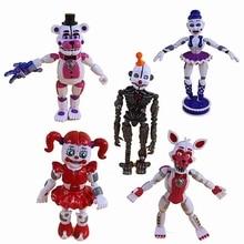 5 шт./компл. Five Nights At Freddy's Game FNAF фигурка Funtime лисица Фредди сестра расположение кукла из фильма ужасов осветляющее подвижное соединение игрушки