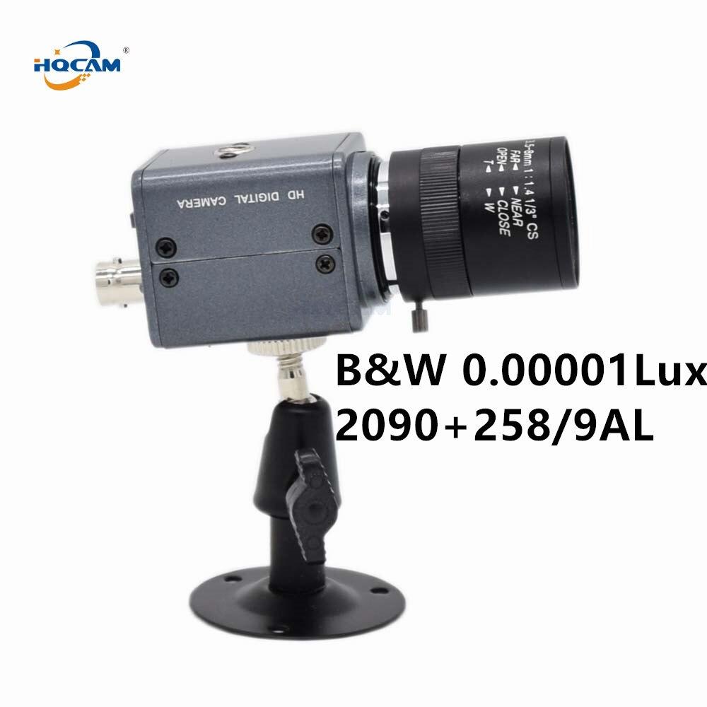 HQCAM CCD B W Camera SONY CCD 258AL 259AL Ultral Low Illumination 0 001Lux black and