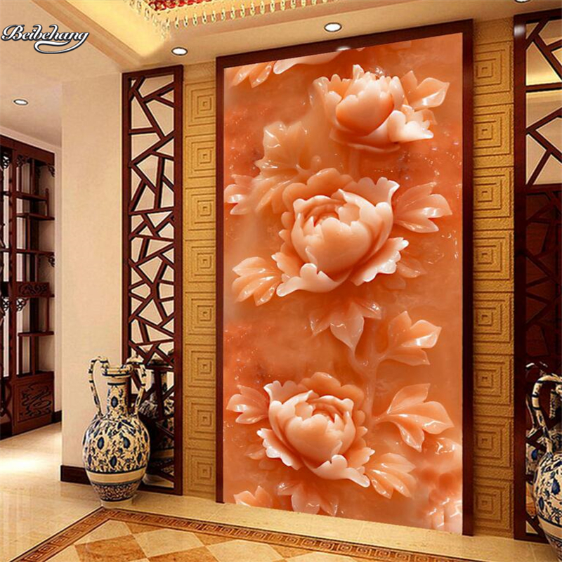 Beibehang Ultra High Definition Jade Carved Relief Wall Background Picture  Picture Custom Large Fresco Non Woven Wallpaper In Wallpapers From Home ...