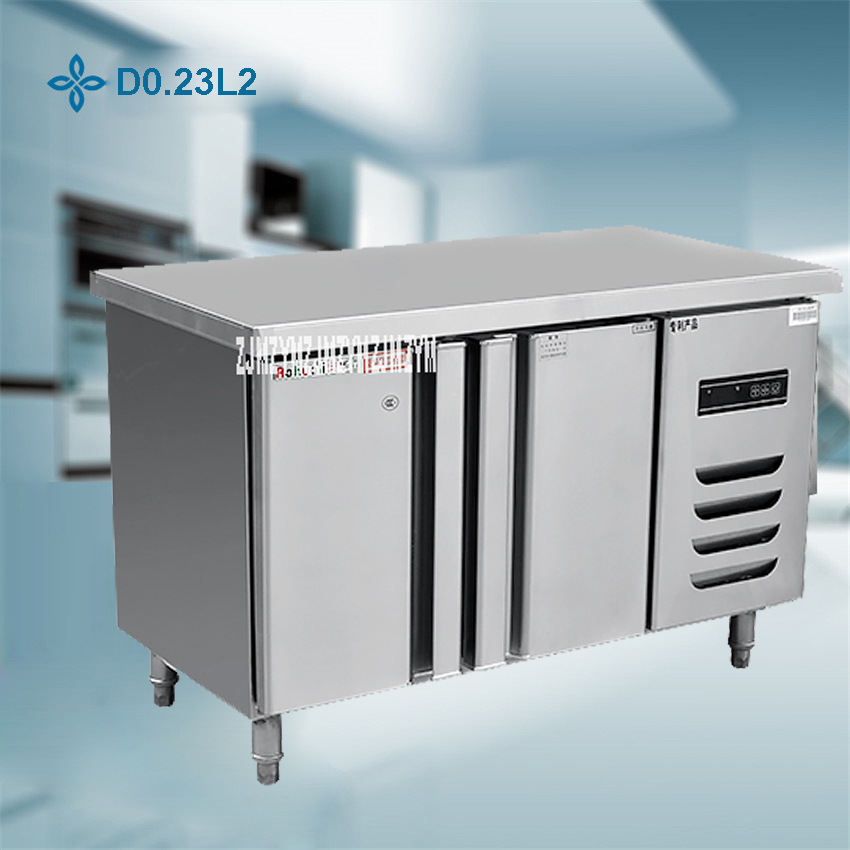 1PC Stainless Steel Kitchen Under-Counter Worktop Commercial Cabinet Refrigerator Freezer Cooler Storage Fridge Machine stainless steel kitchen work food prep table stainless steel kitchen storage cabinet steel cabinet
