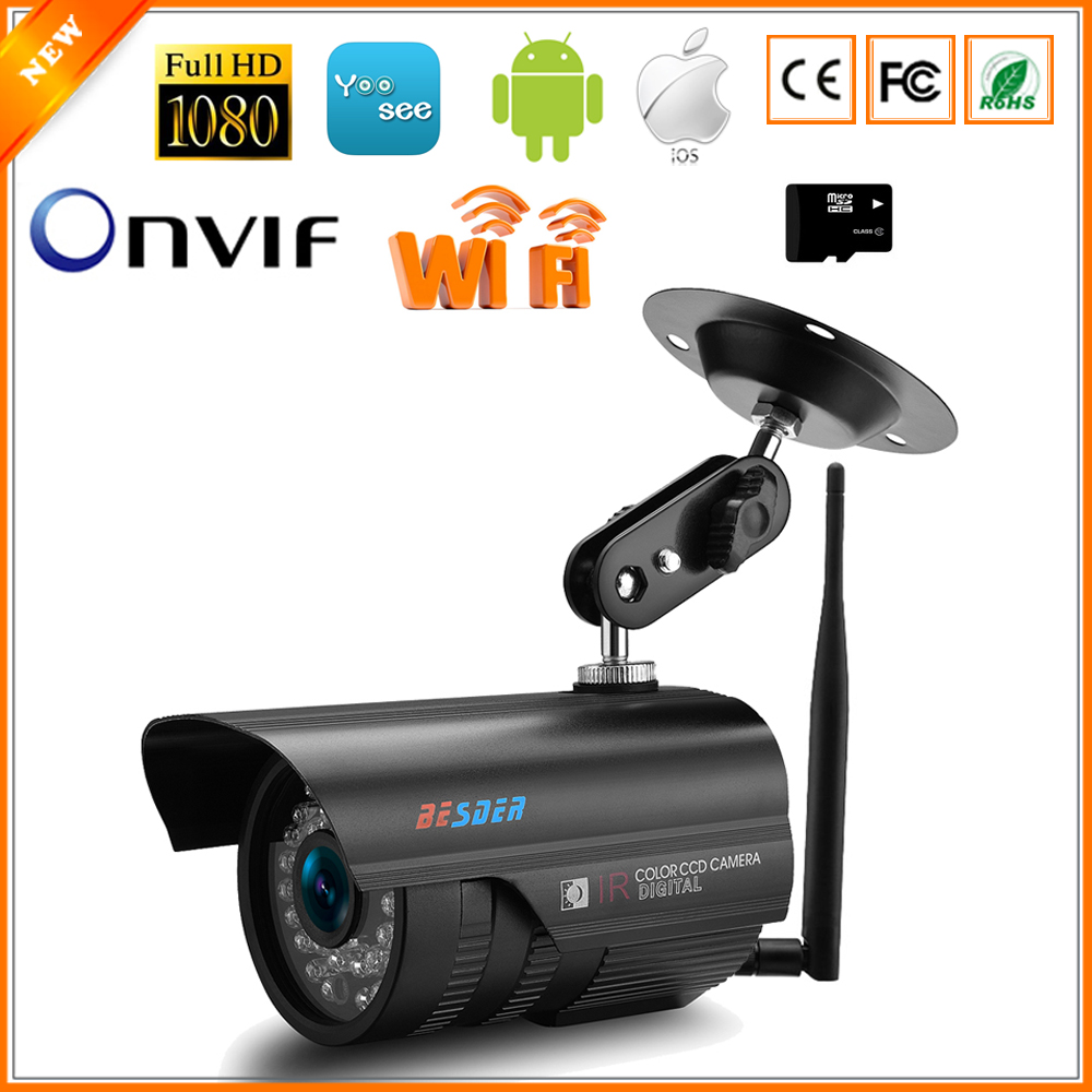 BESDER Yoosee IP Camera Wifi SD Card Slot Max 64Gb 1080P 960P 720P Wireless IP Camera Outdoor Waterproof ONVIF Security Camera