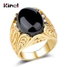Модное большое Золотое кольцо kinel из Дубая мужские свадебные