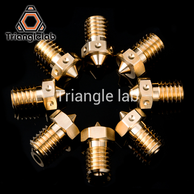 trianglelab Top quality V6 Nozzle for 3D printers hotend 4pcs/lot 3D printer nozzle for E3D hotend titan extruder prusa i3 mk3 1