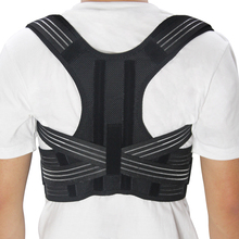 New Adjustable Posture Corrector Back Support Shoulder Lumbar Brace Corset Belt Man